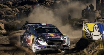 Sebastien Ogier (FRA) performs during the FIA World Rally Championship 2017 in Carloz-Paz, Argentina on April 30, 2017